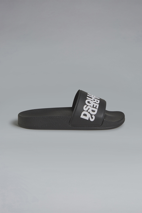 DSQUARED2 Men Sandal Black Size 12C 82% PVC - Polyvinyl chloride 17% Polyester 1% Polyurethane