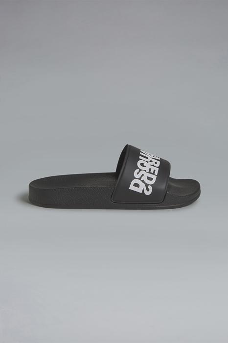 DSQUARED2 Men Sandal Black Size 9C 82% PVC - Polyvinyl chloride 17% Polyester 1% Polyurethane