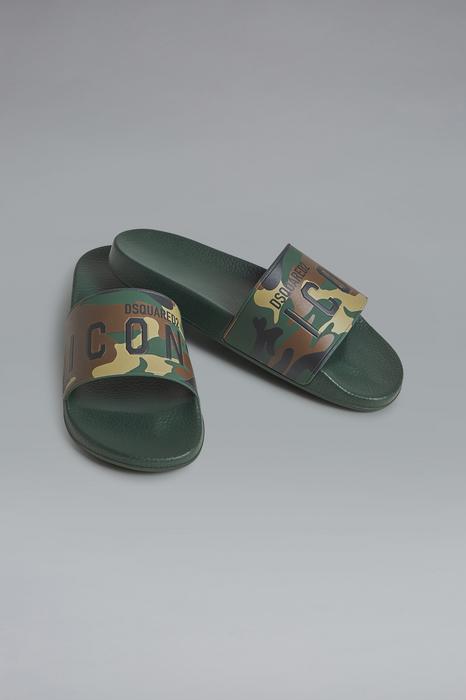 DSQUARED2 Men Sandal Military green Size 7 100% Thermoplastic polyurethane