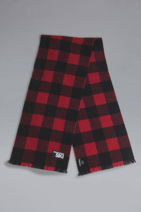 DSQUARED2 Men Scarf Red Size OneSize 100% Wool