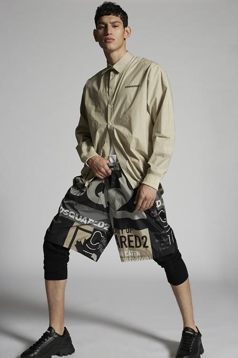 DSQUARED2 Men Shirt Beige Size 36 100% Cotton