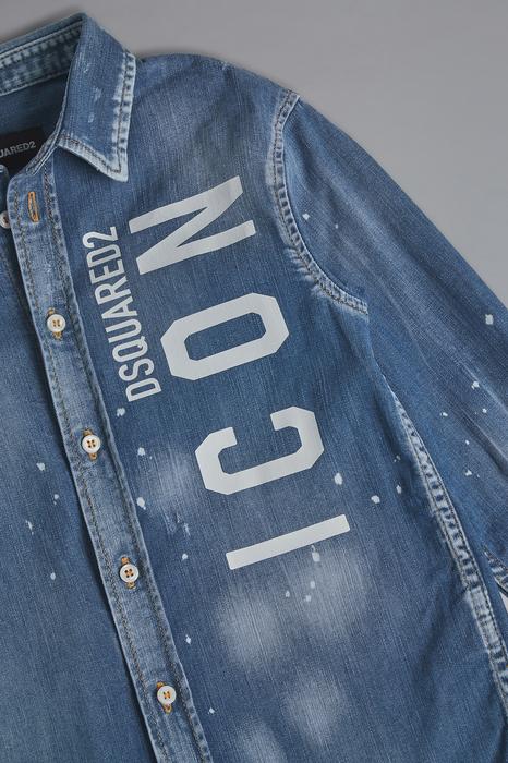 DSQUARED2 Men Shirt Blue Size 12 98% Cotton 2% Elastane