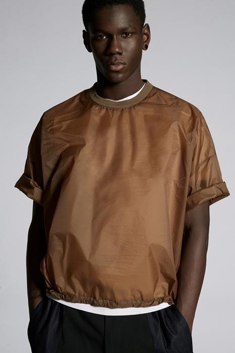 DSQUARED2 Men Shirt Brown Size XXL 100% Polyamide