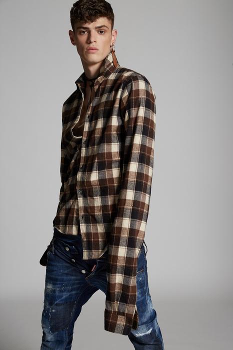 DSQUARED2 Men Shirt Multicoloured Size 34 100% Cotton
