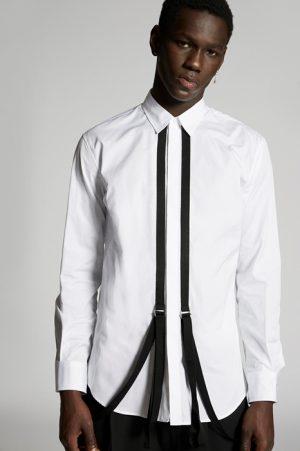 DSQUARED2 Men Shirt White Size 36 100% Cotton