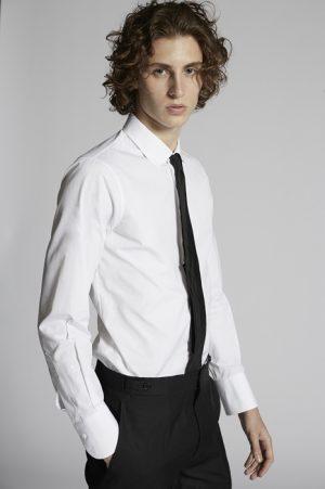 DSQUARED2 Men Shirt White Size 40 100% Cotton