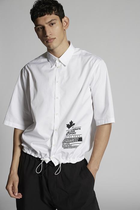 DSQUARED2 Men Shirt White Size 42 100% Cotton