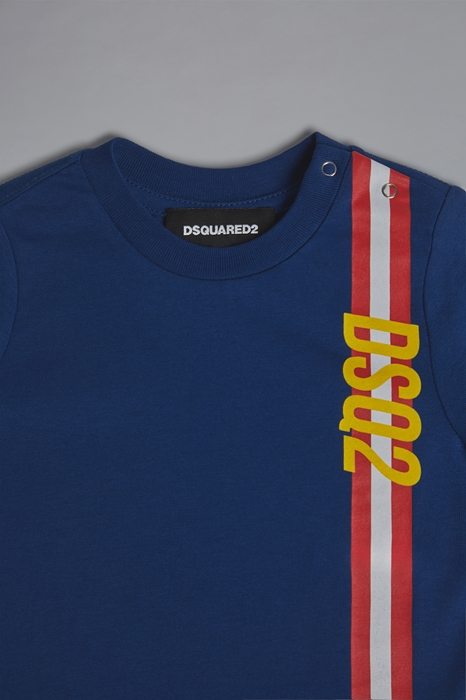 DSQUARED2 Men Short sleeve t-shirt Bright blue Size 9-12 100% Cotton