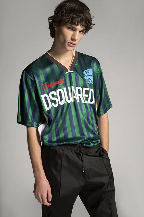 DSQUARED2 Men Short sleeve t-shirt Green Size XL 100% Acetate