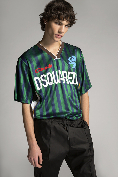 DSQUARED2 Men Short sleeve t-shirt Green Size XS 100% Acetate