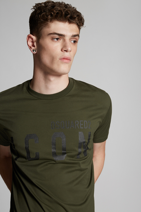 DSQUARED2 Men Short sleeve t-shirt Military Green Dark Size S 100% Cotton
