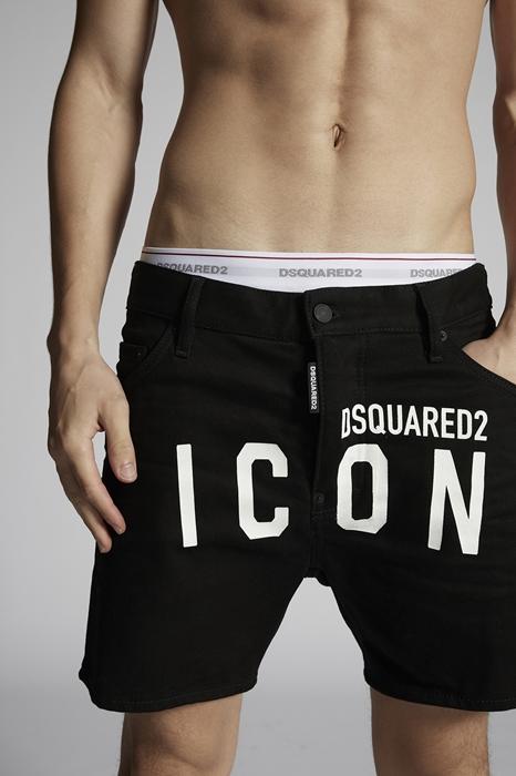 DSQUARED2 Men Shorts Black Size 30 98% Cotton 2% Elastane