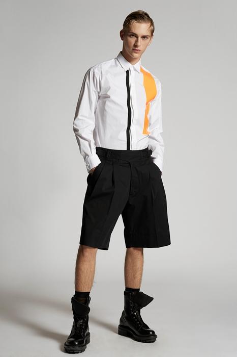 DSQUARED2 Men Shorts Black Size 34 97% Cotton 3% Elastane
