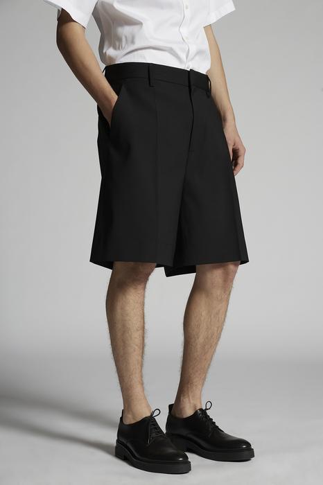 DSQUARED2 Men Shorts Black Size 36 95% Virgin Wool 5% Elastane