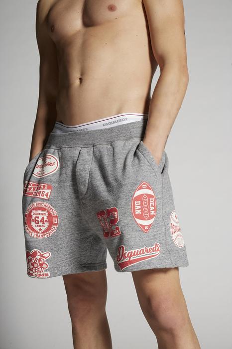 DSQUARED2 Men Shorts Grey Size L 100% Cotton
