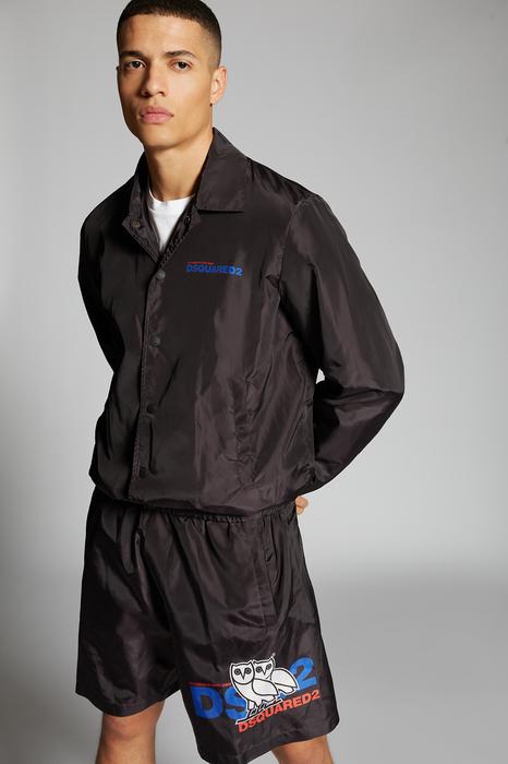 DSQUARED2 Men Shorts Multicoloured Size 44 100% Polyester