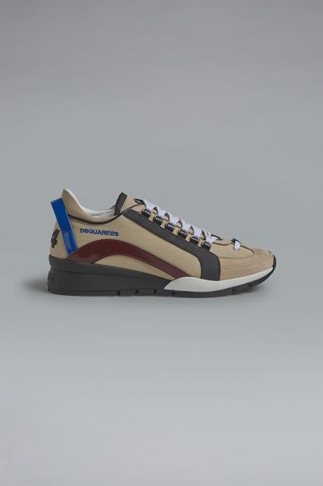 DSQUARED2 Men Sneaker Beige Size 13 60% Nylon 30% Calfskin 7% Polyurethane 3% Polyester