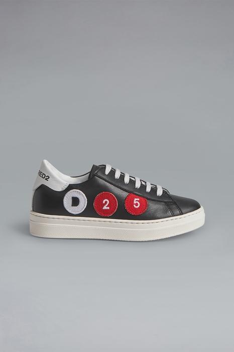 DSQUARED2 Men Sneaker Black Size 10C 100% Calfskin