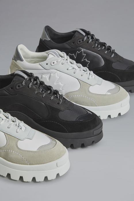 DSQUARED2 Men Sneaker Black Size 12 77% Calfskin 9% Cotton 6% Polyester 6% Polyamide 2% PVC