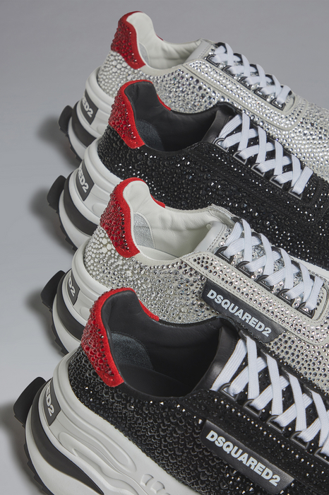 DSQUARED2 Men Sneaker Black Size 5 53% Calfskin 47% Glass