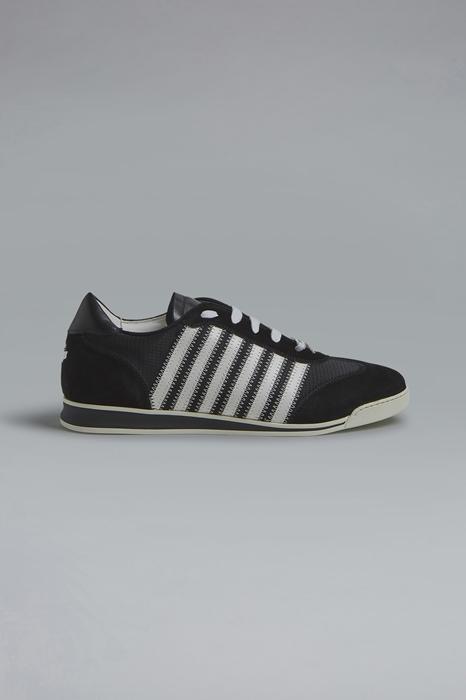 DSQUARED2 Men Sneaker Black Size 6 43% Polyester 40% Calfskin 15% Thermoplastic polyurethane 2% Viscose