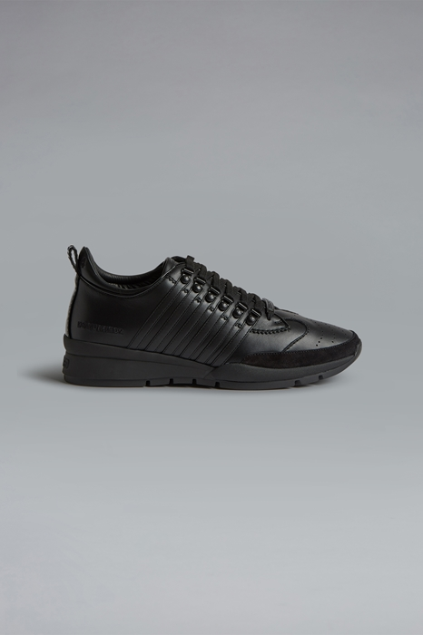 DSQUARED2 Men Sneaker Black Size 6 90% Calfskin 7% Polyurethane 3% Polyester