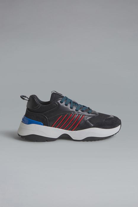 DSQUARED2 Men Sneaker Black Size 8 60% Calfskin 40% Synthetic fibers