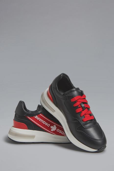 DSQUARED2 Men Sneaker Black Size 9C 100% Calfskin