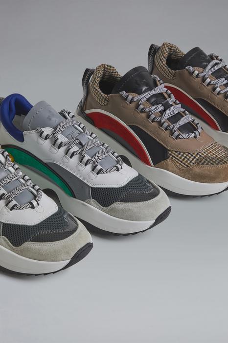 DSQUARED2 Men Sneaker Camel Size 10 70% Calfskin 13% Cotton 7% Polyester 7% Polyurethane 3% PVC