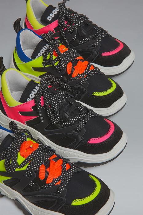 DSQUARED2 Men Sneaker Fuchsia Size 3Y 84% Calfskin 13% Polyamide 3% Elastane
