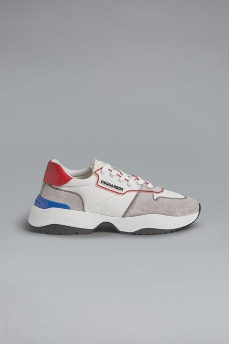 DSQUARED2 Men Sneaker Grey Size 11 70% Polyester 30% Calfskin