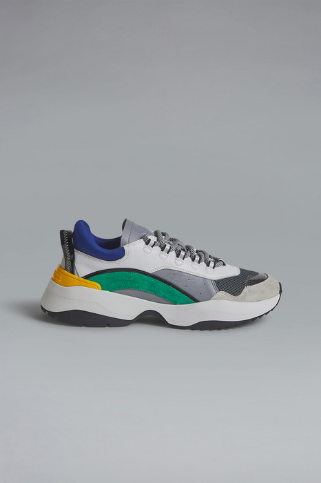 DSQUARED2 Men Sneaker Grey Size 11 75% Calfskin 13% Polyester 5% PVC 4% Polyurethane 3% Polyethylene