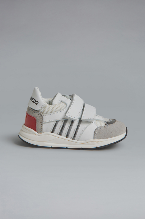 DSQUARED2 Men Sneaker Grey Size 5C 78% Calfskin 18% Polyester 3% Polyurethane 1% Cotton