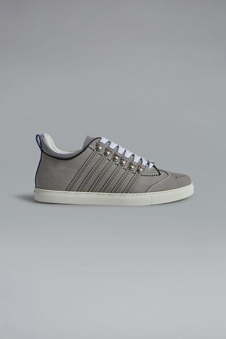DSQUARED2 Men Sneaker Grey Size 6 85% Calfskin 10% Polyurethane 3% Polyester 2% Viscose