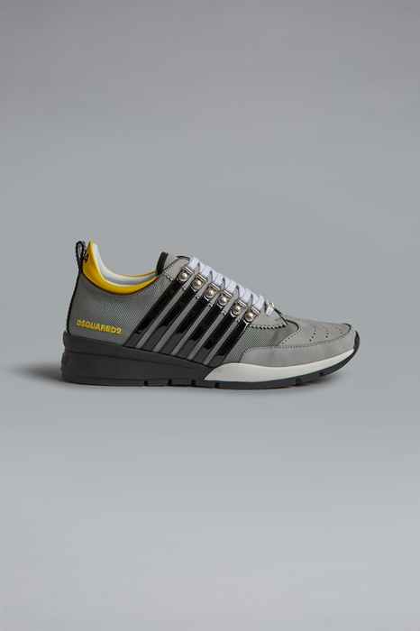 DSQUARED2 Men Sneaker Grey Size 7 60% Nylon 30% Calfskin 7% Polyurethane 3% Polyester