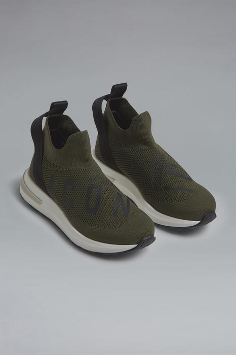 DSQUARED2 Men Sneaker Military green Size 1Y 80% Polyamide 20% Lycra®