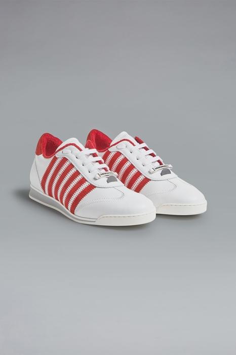 DSQUARED2 Men Sneaker Red Size 8 100% Calfskin