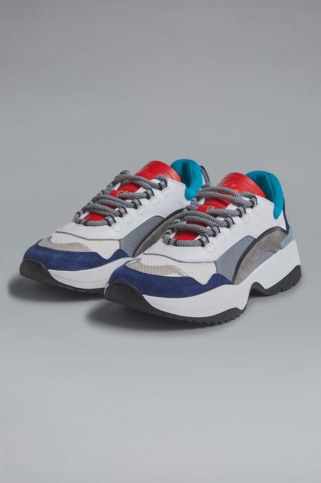 DSQUARED2 Men Sneaker White Size 10 75% Calfskin 13% Polyester 5% PVC 4% Polyurethane 3% Polyethylene