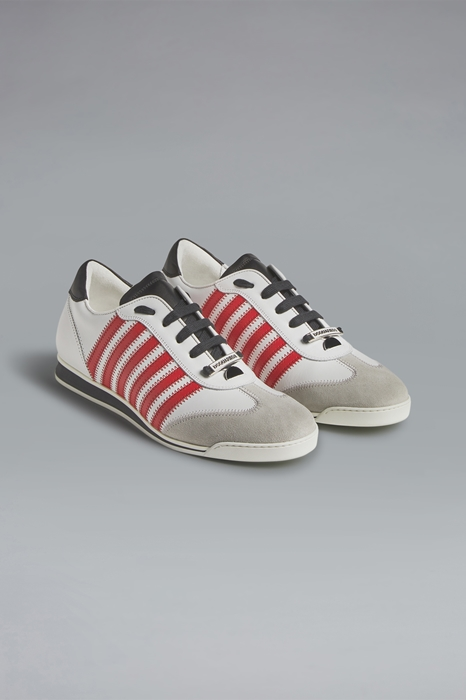 DSQUARED2 Men Sneaker White Size 10 80% Calfskin 15% Polyurethane 3% Polyester 2% Viscose