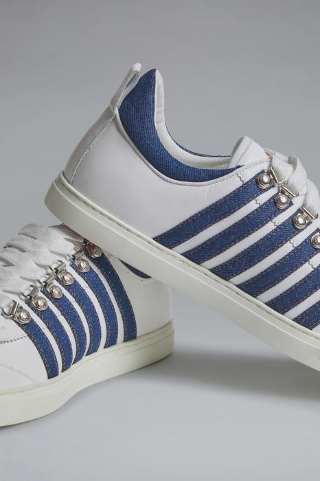 DSQUARED2 Men Sneaker White Size 10 80% Calfskin 20% Cotton