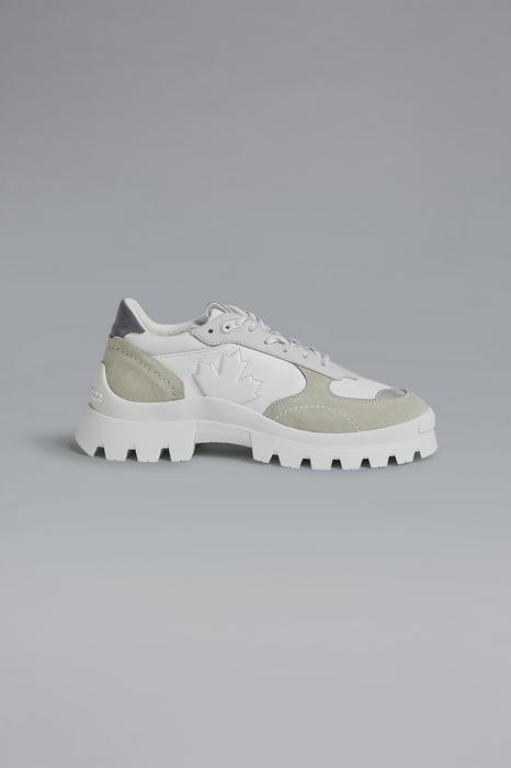 DSQUARED2 Men Sneaker White Size 11 77% Calfskin 9% Cotton 6% Polyester 6% Polyamide 2% PVC