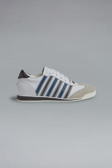 DSQUARED2 Men Sneaker White Size 12 70% Calfskin 20% Cotton 7% Viscose 2% Polyester 1% Polyurethane