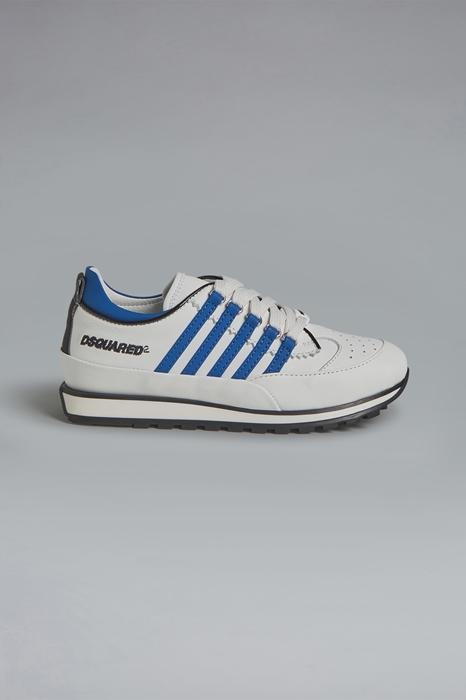 DSQUARED2 Men Sneaker White Size 1Y 73% Calfskin 20% Polyurethane 6% Polyester 1% Cotton