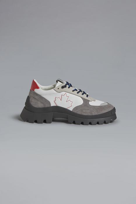 DSQUARED2 Men Sneaker White Size 7 77% Calfskin 9% Cotton 6% Polyester 6% Polyamide 2% PVC