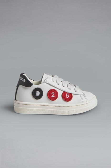 DSQUARED2 Men Sneaker White Size 7C 100% Calfskin