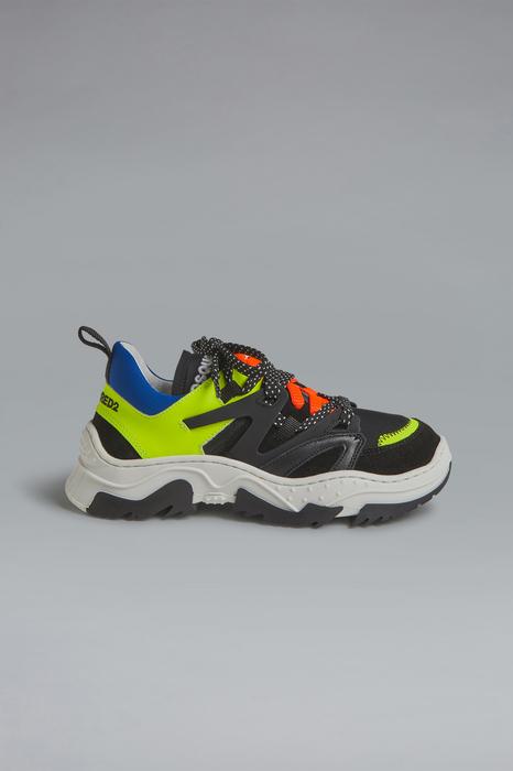 DSQUARED2 Men Sneaker Yellow Size 1Y 84% Calfskin 13% Polyamide 3% Elastane