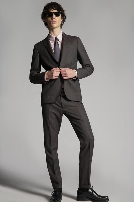 DSQUARED2 Men Suit Blue Print Size 40 100% Virgin Wool