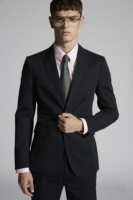 DSQUARED2 Men Suit Blue Size 40 97% Cotton 3% Elastane
