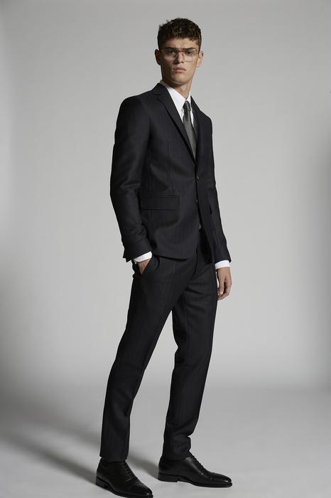 DSQUARED2 Men Suit Dark blue Size 34 100% Wool