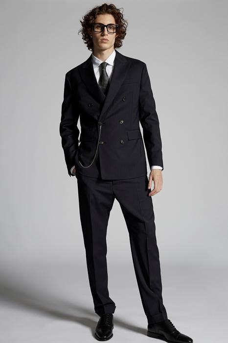 DSQUARED2 Men Suit Dark blue Size 34 54% Polyester 44% Wool 2% Elastane